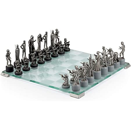 Royal Selangor Hand Finished Star Wars Collection Pewter Star Wars Classic Chess Set Gift