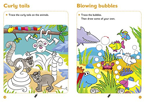 Pen Control Age 3-5 Wipe Clean Activity Book: Reception English Home Learning and School Resources from the Publisher of Revision Practice Guides, ... Activities. (Collins Easy Learning Preschool)