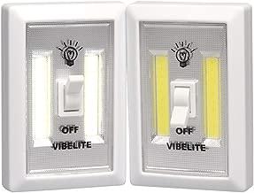 Battery Operated LED Night lights, COB LED Cordless Light Switch, Under Cabinet, Shelf, Closet, Nightlight & Kitchen RV & Boat (2-pack)