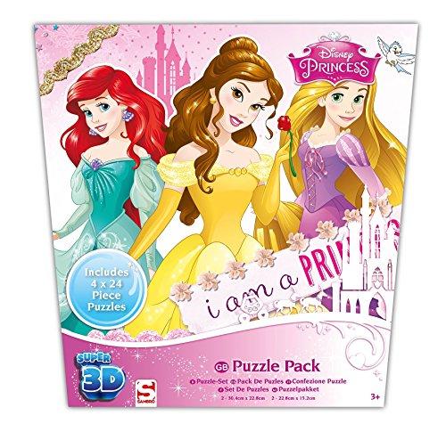 Sambro Princess Super 3D Puzzle (Pack de 4)