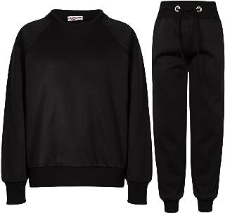 A2Z 4 Kids Girls Boys Plain Raglan Sleeves Jumper Tracksuit Sweatshirts & Bottom Jogg Suits