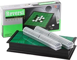 ALEC マグネットオセロ リバーシ オセロ 折りたたみオセロ ずれにくい コンパクト収納 持ち運び簡単 25×25×2
