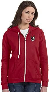 Independence Red Breed Embroidered Anvil Full Zip Ladies Hoodie (All Breeds)