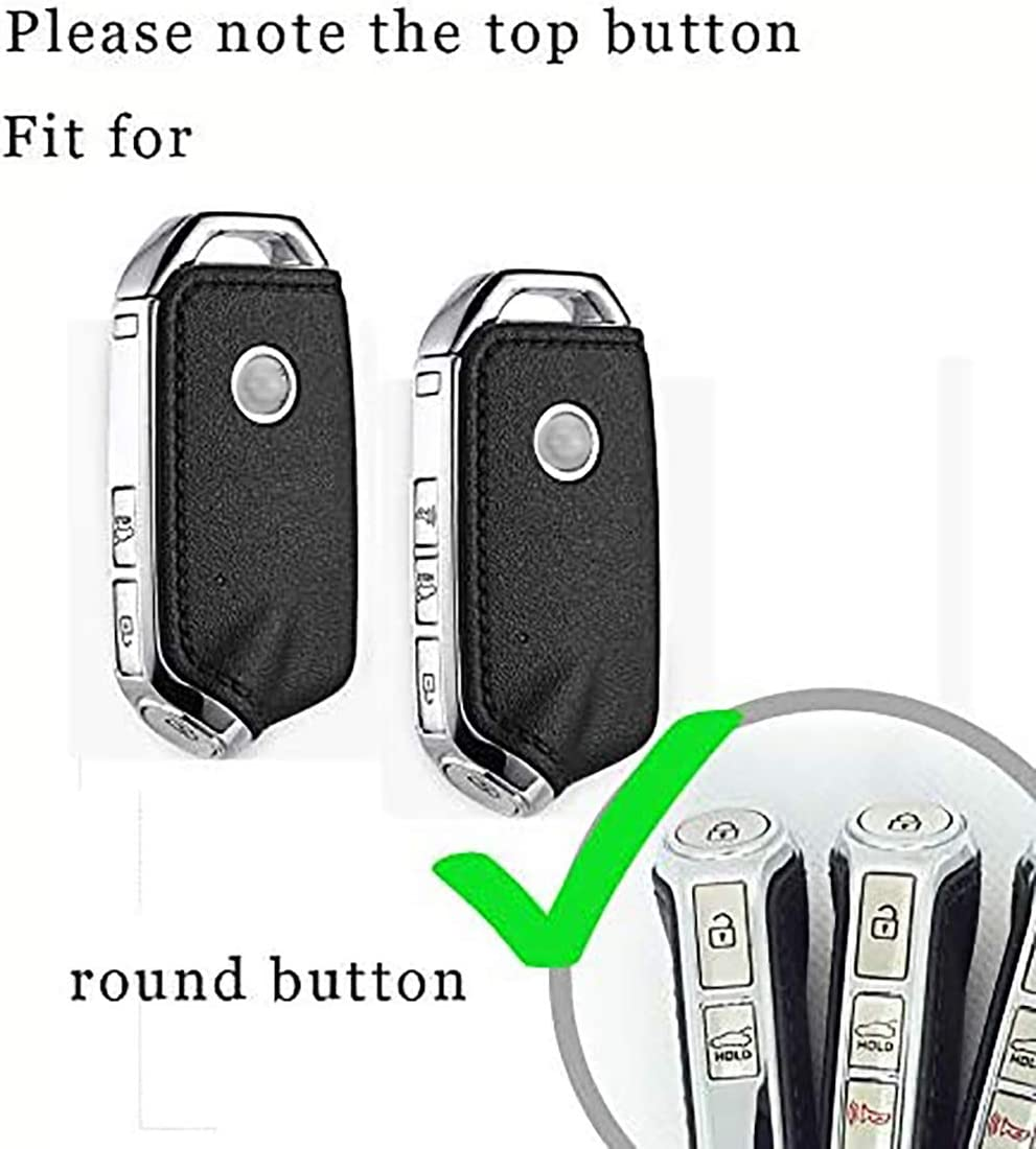 ontto Key Fob Cover Case Holder Shell Jacket Protection for Kia Remote Black
