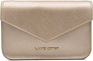 Lancaster Paris Women's 52707CHAMPAGNE Silver Leather Shoulder Bag