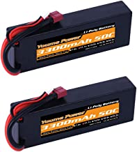 Lipo 3S, 11.1V 3 Cell Lipo Battery 3300mah Hard Case 50C Deans T Connector for RC Traxxas Cars Boat Truck Buggy Truggy(5.43x1.81x0.98inch)