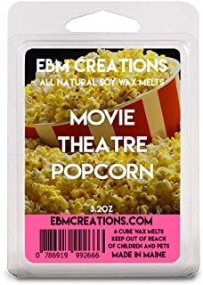 Movie Theatre Popcorn – July Scent Of The Month – Scented All Natural Soy Wax Melts – 6 Cube Clamshell 3.2oz Highly Scented!