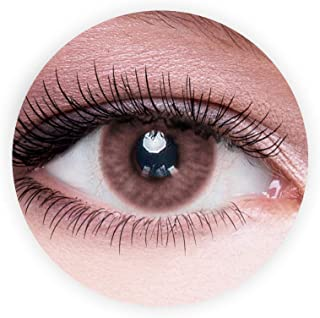 Dahab Marron Contact Lenses, Unisex Dahab Cosmetic Contact Lenses, 9 Months Disposable- Natural and Beauty Collection, Mar...
