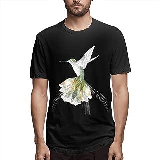 Zoomu Cartoon CuckooMen's Short Sleeve Standard T-Shirt Slim-fit Short-Sleeve Slub Henley T-Shirt