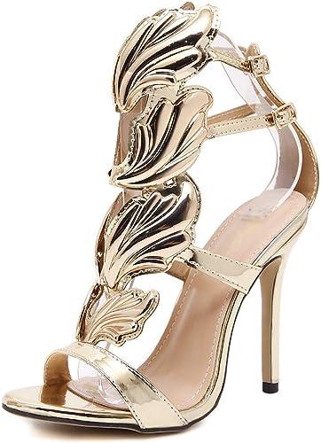 Femmes Peep Toe Toe Toe Sandales Stiletto à Talons Hauts Les Les dames Couper La Cheville Sangle Boucle Aile De Noce De Noce De Bal Chaussures d01
