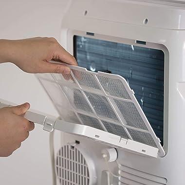 BLACK+DECKER BPACT08WT Portable Air Conditioner with Remote Control, 5,000 BTU DOE (8,000 BTU ASHRAE), Cools Up to 150 Square