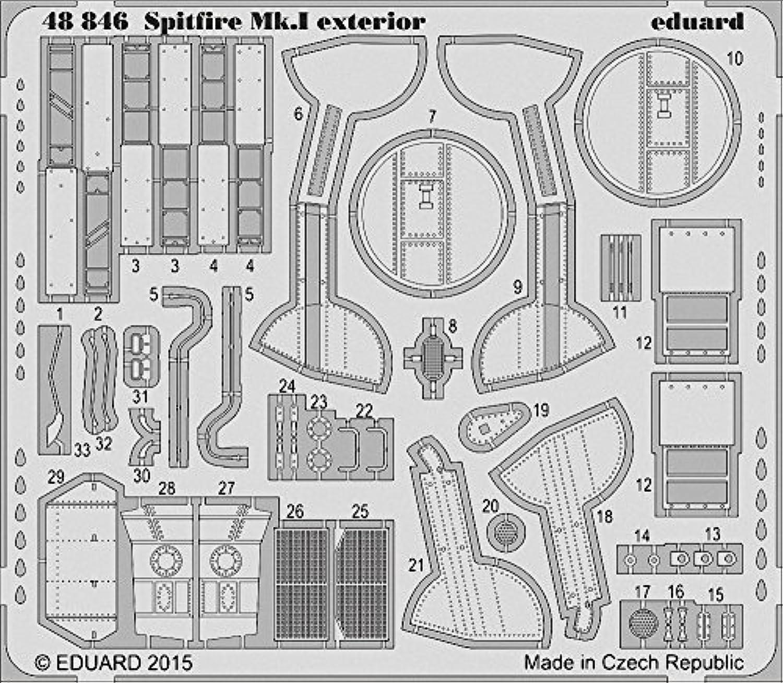 Eduard Photoetch 1 48  Spitfire Mk.I Exterior(AIR05126) by Eduard