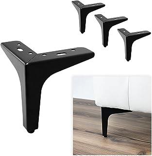 P17 Model Siena | Set met 4 poten + 16 schroeven | Hoogte 13 cm | Poten voor banken, meubels, kasten, fauteuils | Metalen ...