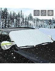 AUTSCA 凍結防止シート 雪対策 車用 カーフロントカバー 車サンシェード 四季用 凍結防止 雪対策 遮光 落葉対策 防水材料 厚手 M&L (M (147 * 100cm))