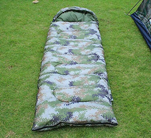 Qazxsw Camouflage Sleeping Bag Outdoor Envelope Adult Camping Tent Sleeping Bag