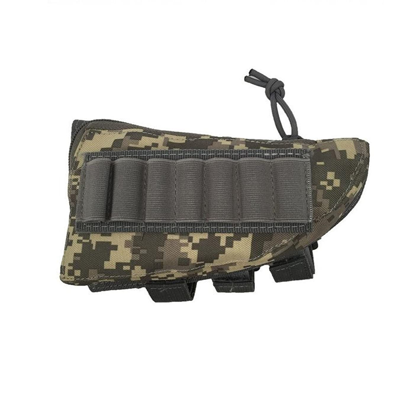 VALINK Tactical Buttstock Shotgun Rifle Stock Ammo Portable Pouch Shell Cartridge Holder Pouch Holder Cheek Rest Gun Bag for Outdoor Military Hunting - 20cmX11.5cmX5cm