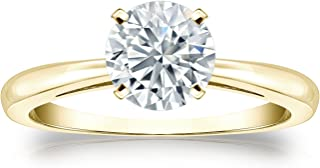14k Gold Round Solitaire Diamond Engagement Ring (1/3cttw, H-I, I1-I2) 4-Prong Set, Size 4-9