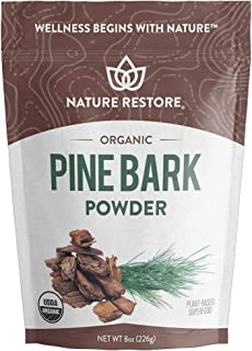 USDA Certified Organic Pine Bark Extract Powder, 8 ounces/226 Grams, Standardized to 95 Percent Proanthocyanidins, Vegan, ...