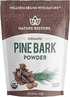 USDA Certified Organic Pine Bark Extract Powder, 8 Ounces, Standardized to 95 Percent Proanthocyanidins, Vegan, Gluten Free, Non GMO