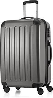 """Hauptstadtkoffer Alex Luggage Suitcase Hardside Spinner Trolley Expandable 24"""" TSA, Silver, 65 Centimeters"""