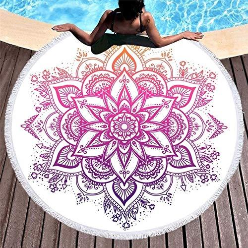 IAMZHL Toallas de Playa Redondas Toalla de Ducha de baño Gruesa geométrica de Verano 150cm Círculo Playa Natación Estera de Yoga Cubrir servilleta de Plage-a6
