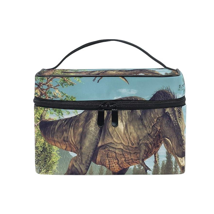 作曲するシリンダーのみUOOYA 恐竜 動物柄 おしゃれ メイクボックス 大容量 持ち運び メイクポーチ 人気 小物入れ 通学 通勤 旅行用 プレゼント用