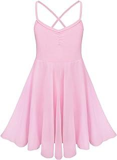 fb792094ee3 IEFIEL Justaucorps de Danse Classique Fille T Shirt Extensible Robe sans  Manches Mousseline Camisole Enfant 2