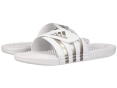 adidas adissage (Footwear White/Platin Metallic/Footwear White) Men