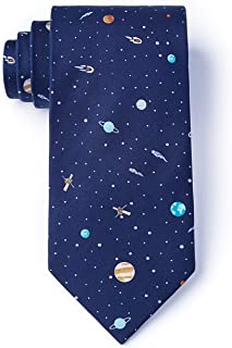 Men's Solar System Astronomy Solar Outer Space Novelty Skinny Narrow Tie Necktie