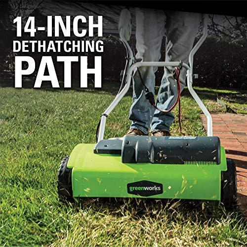 Greenworks 14-Inch 10 Amp Corded Dethatcher 27022