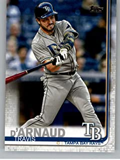 2019 Topps Update (Series 3) #US184 Travis d'Arnaud Tampa Bay Rays Official Baseball Trading Card