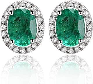 Best real emerald earrings studs Reviews
