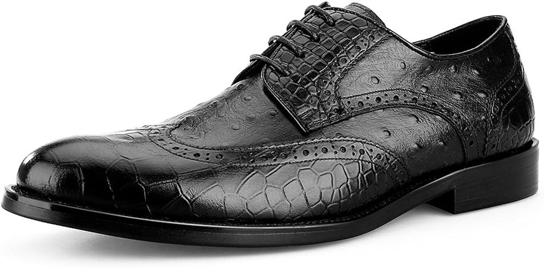 Men's leather shoes Business Formal Wear Tide shoes Black