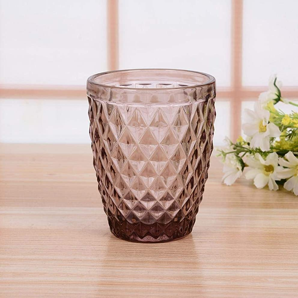 Goodscene Vintage European Tea/Coffee Set Color Glass Cup of Household Water Cup Thickened Drinking Juice Cup (Color : B)