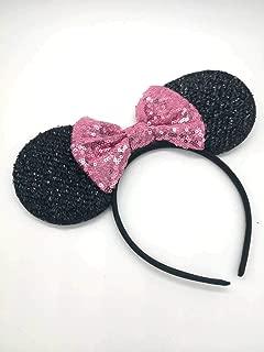 ZIYAN Pink Mickey Ears, Rainbow Minnie Mouse Ears, Sparkly Minnie Ears, Mouse Ears, Electrical Parade Ears
