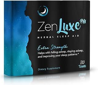 ZenLuxe PM Extra Strength Herbal Sleep Aid - Max Efficiency Sleeping Pills for Deep Restful Sleep & Insomnia Relief - Stro...