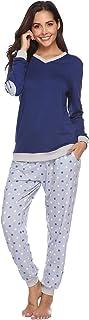 Abollria Ensemble de Pyjama Femmes Coton Vêtement de Nuit à Pois Vêtement d'Intérieur Femme, Doux à Porter et Confortable