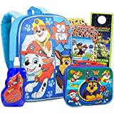 Paw Patrol School Backpack With Lunch Box For Kids, Boys ~ 5 Pc Bundle With 15' Paw Patrol School Bag, Water Pouch , 300 Stickers, And More   Paw Patrol School Supplies