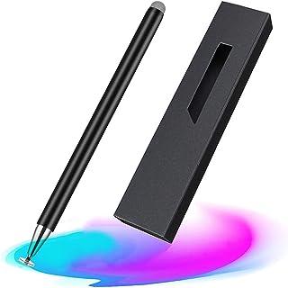 2in1 スタイラスペン 高感度 金属製 軽量 スマートフォン タブレット タッチペン Android iPad iPhone対応(ブラック)
