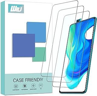 [3-Pack] WRJ Screen Protector for Xiaomi Poco F2 Pro,HD Anti-Scratch Anti-Fingerprint No-Bubble 9H Hardness Tempered Glass...