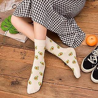 Deanyi Kawaii Calcetines Calcetines Divertidos Dibujos Animados Frutas de piña limón plátano Comida Linda Aguacate Felices japoneses Harajuku patín Calcetines para Mujeres de la Muchacha