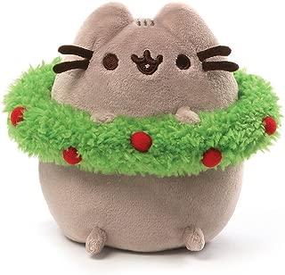 GUND Pusheen with Wreath Holiday Stuffed Animal Cat Plush, 4.5