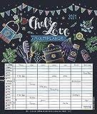 Multiplaner - Chalk Love 2021: Familienplaner, 7 breite Spalten. Großer Familienkalender mit Ferienterminen, extra Spalte, Vorschau bis März 2022 und Datumsschieber. Format: 40x47 cm