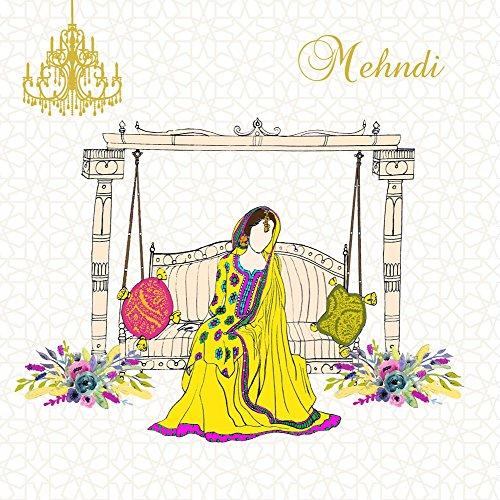 Mehndi Karte Islamische Braut Hochzeit Karte Henna Party