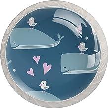 Dolfijnen Vogel Leuke Roze Liefde Hart Set van 4 Lade Knoppen Trekt Kast Handvat voor Thuis Keuken Garderobe Kast Home Dec...