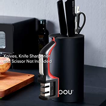 Universal Knife Block Holder, OOU Knife Holder Without Knives,Detachable for Easy Cleaning, Round Knife Holder For Sa...