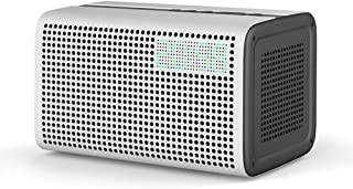 Wireless Speaker Best Bluetooth Speaker 2019 WiFi Smart Speaker Bluetooth Support with Alarm Clock & Charger (Color : White)