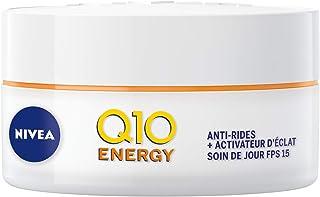 NIVEA Q10 Plus C Soin De Jour Défatigant Anti-rides +Énergie FPS 15 (1x 50 ml), crème anti-âge enrichie en Q10 & Vitamine ...