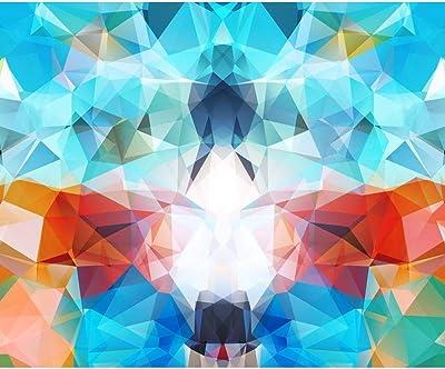 ArtzFolio Abstract Geometric Multicolored Triangles Mosaic Peel & Stick Vinyl Wall Sticker 43.8inch x 36inch (111.4cms x 91.4cms)
