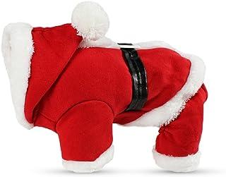 24effabb5770b PETCUTE Costume de Noel pour Chien Noël Costumes pour Chien Papa Noël  Hoodies Deguisement de Noel